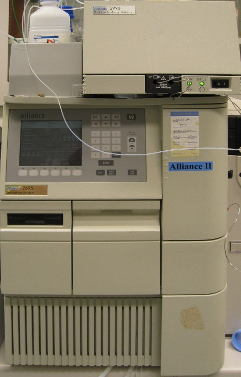 Waters Alliance 2695 HPLC module with diode array detector