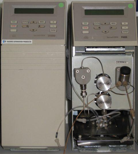 TSP P4000 pump, UV2000 UV detector