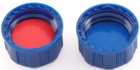 Screw caps PTFE/Silicone septa (pre slit)