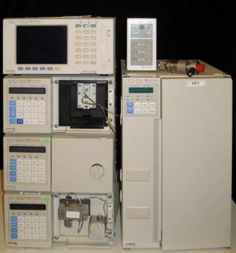 Shimadzu LC-10AT HPLC system with column oven