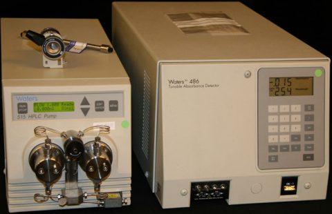 Waters 515 pump and Waters 486 UV-VIS detector