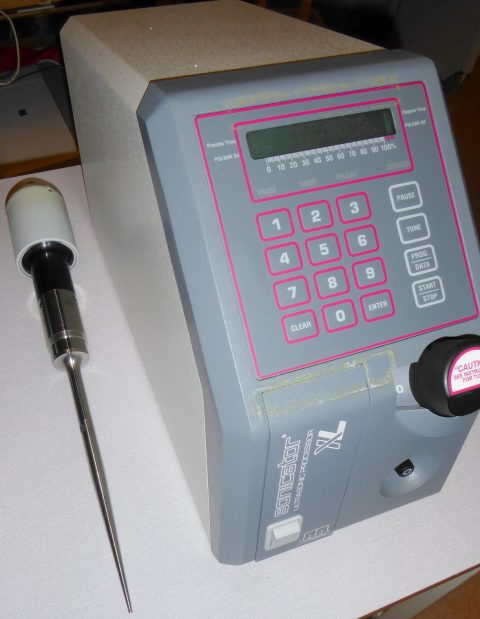 Sonicator Ultrasonic Processor w. micro probe